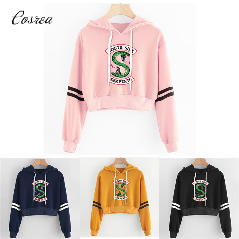 Riverdale Sweatshirt Pink Women Hoodies Sweatshirts Fashion Hooded Long Sleeve Casual Clothing South Side Serpents Riverdale