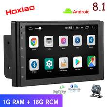 Mobil Multimedia Player 2 DIN Android Mobil Stereo Radio Bluetooth Wifi Audio Cermin Link Android 8.1 Gps Navigasi(China)