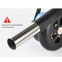 цена на Outdoor Cooking BBQ Fan Air Blower For Barbecue Fire Bellows Hand Crank Tool For Picnic Camping Hand-Cranked Combustion Blower