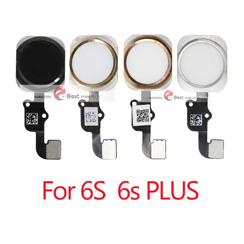 1 sztuk przycisk Home z Flex Cable dla iPhone 5 5C 5S 6 6Plus 6s plus 8 7 7Plus przycisk Home Flex montaż
