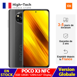 Xiaomi POCO X3 NFC 6 ГБ ОЗУ 128 ГБ ROM, смартфон с 6,67 ''120 Гц дисплей Snapdragon 732G 6