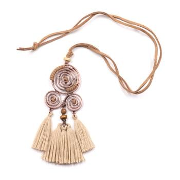 Macrame Spiral Necklace