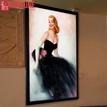 Led Advertising Light Box For Restaurant Menu Price List LED Illuminate Picture Frame Light Boxes For Movie Poster Frame