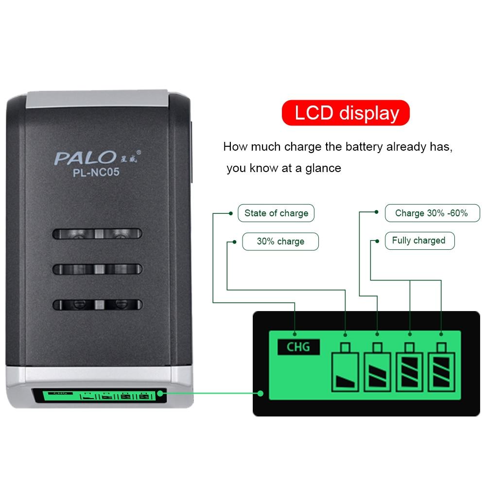 LCD Display Mit 4 Slots Smart Intelligente Batterie Ladegerät Für 1,2 V AA AAA NiCd NiMh Akkus