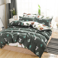 Tessili per la casa Cartoon Cactus set di biancheria da letto Teen Adult King Queen Twin Size copripiumino federa lenzuolo 3/4Pcs lenzuola