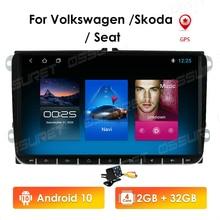 2 Din Android10 Car radio GPS Navigation For VW Passat B6 amarok volkswagen Skoda Octavia superb Jetta T5 golf Multimedia Map