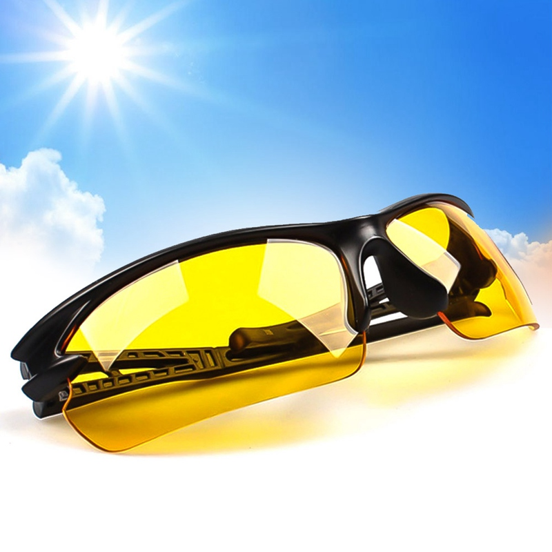 1Pcs Car Motorcycle Night Vision Goggles Drivers Sunglasses Night-vision Glasses Anti Night Driving Glasses Protective Gears