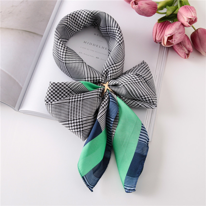 Fashion Luxury Spring And Autumn Women Square Quality Scarves Tourism Flower Print Silk Headcloth Lady Seaside Sunscreen Shawl