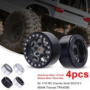 4 шт. мини-колеса из алюминиевого сплава RC части для 1/10 весы гусеничный TRX-4 осевой SCX10 90046 90047 RC автомобиль
