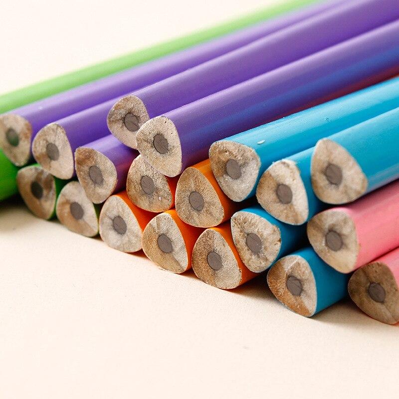 Image 4 - 100 шт Классический Новый Одноцветный бревенчатый карандаш с резиновым креплением HB пишущий карандаш для обучения рисованию канцелярские товарыПростые карандаши    АлиЭкспресс