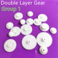 31 kinds of M0.5 Plastic Teeth Double Layer Gears Reduction Gear Group 1 Deck DIY Toy Car Robot Helicopter Parts Dropshipping(China)
