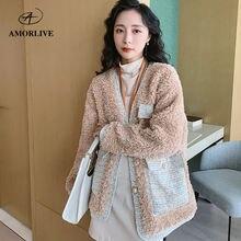 Кашемировое элегантное женское пальто из искусственного меха