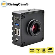 חדש 4K Ultra HD 60fps HDMI ו usb פלט תעשייתי מיקרוסקופ מצלמה עבור SONY imx226 חיישן