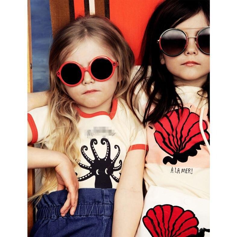 2021 Summer Children T-shirt Mini Brand Kids Short Sleeve Boy Alamer Octopus Casual Baby Girls Boys T Shirt Children Clothes 4