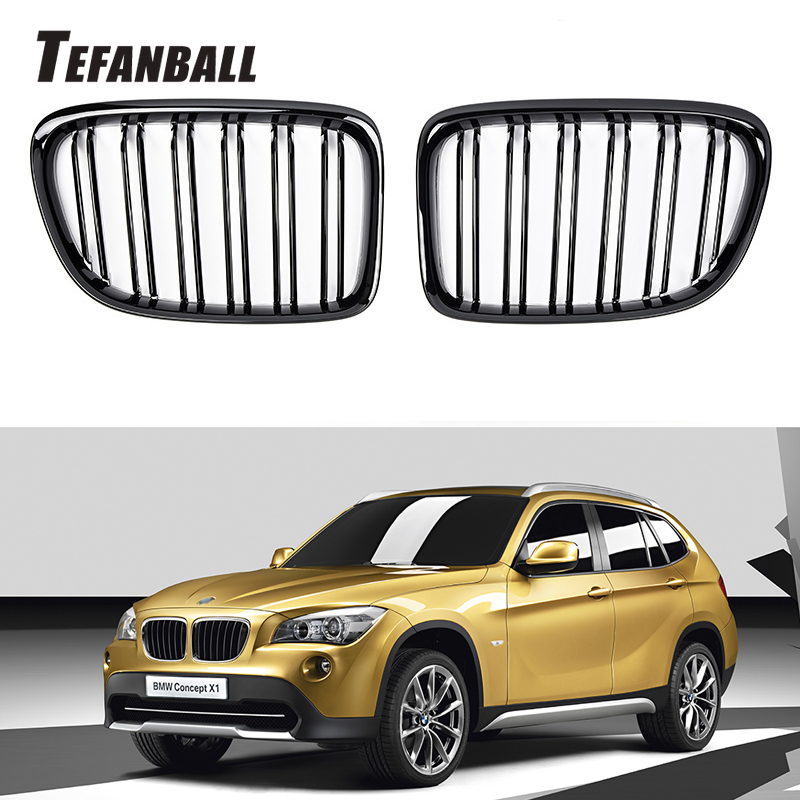 Une paire Double lamelle rein Grille Sport capot avant gril pour BMW X1 E84 2011-2015 Kit carrosserie Auto accessoires voiture style