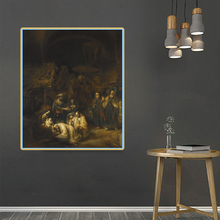 Rembrandt《The Journey of the Magi》Citon Canvas Oil painting Artwork Poster Picture Modern Wall decor Home Living room Decoration dermot bolger the journey home