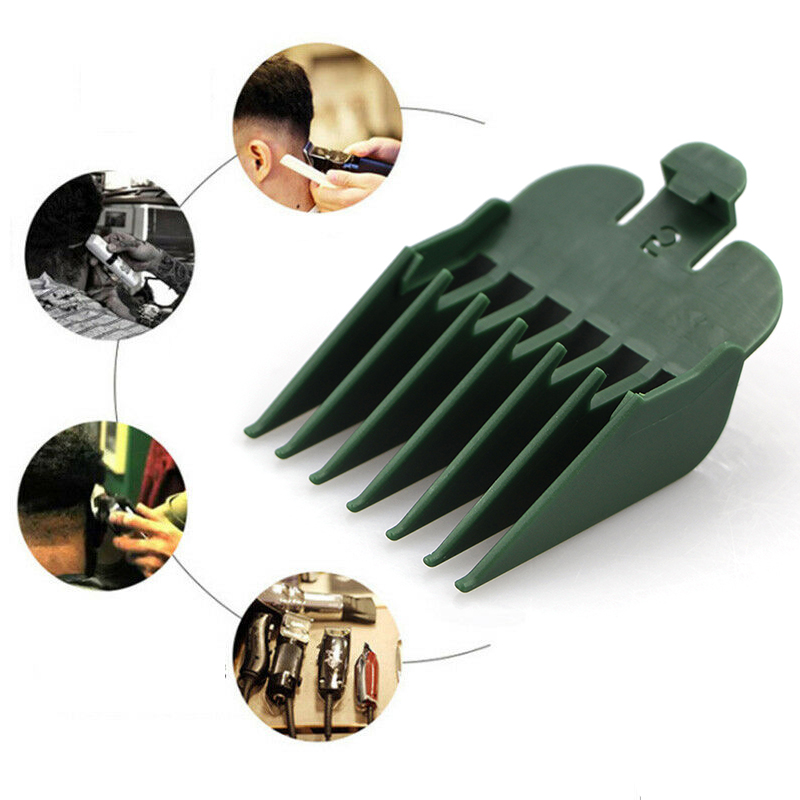 8PCS Universal Hair Clipper Limit Comb Guide Attachment Size Barber Replacement For Wahl With Clip 3171/500 1/8in To 1in Set