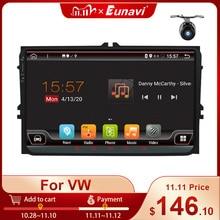 Eunavi 2 Din Car Multimedia Android Radio GPS For VW Volkswagen Passat b6 Polo Golf 5 Magotan Seat Autoradio Stereo 9 DSP RDS