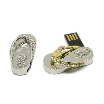 Waterproof Pendrives Jewelry Pendrive 512 GB Usb Flash Drive 1TB 2TB Shoe 8gb 16gb 32gb 64GB Diamond Pen Drive Memory Stick 2.0