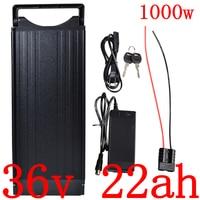 36V 500W 1000W Rear Rack eBike Battery 36V Electric Bicycle li ion Battery  36V 20AH 22AH 25AH Lithium Battery with 2A charger|Electric Bicycle Battery| |  -