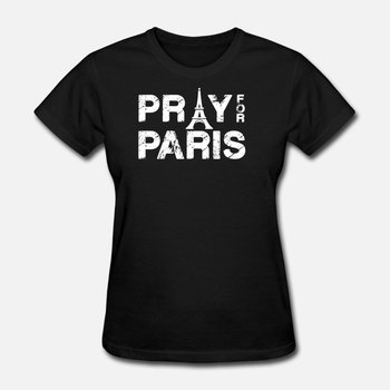 New Arrival Pray For Paris Mens Tshirt Cotton Classic Classical Tshirt Man Short Sleeve Solid Color Hiphop Tops