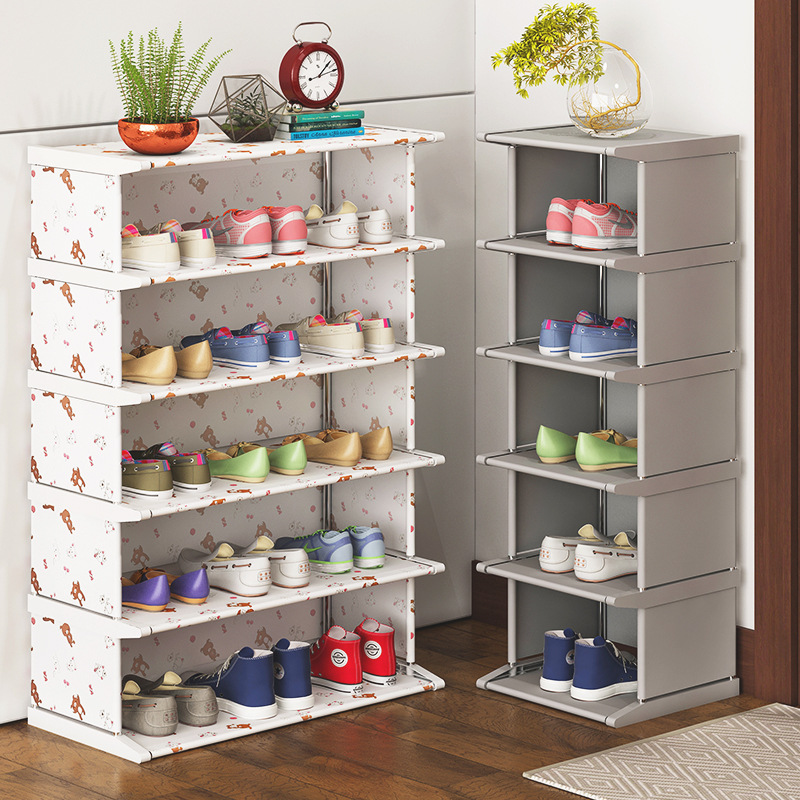 Non-woven Fabric Shoe Cabinet Easy To Assemble Home Shoe Organizer Space Saver Stand Holder Shelf Furniture Creative Shoe Rack