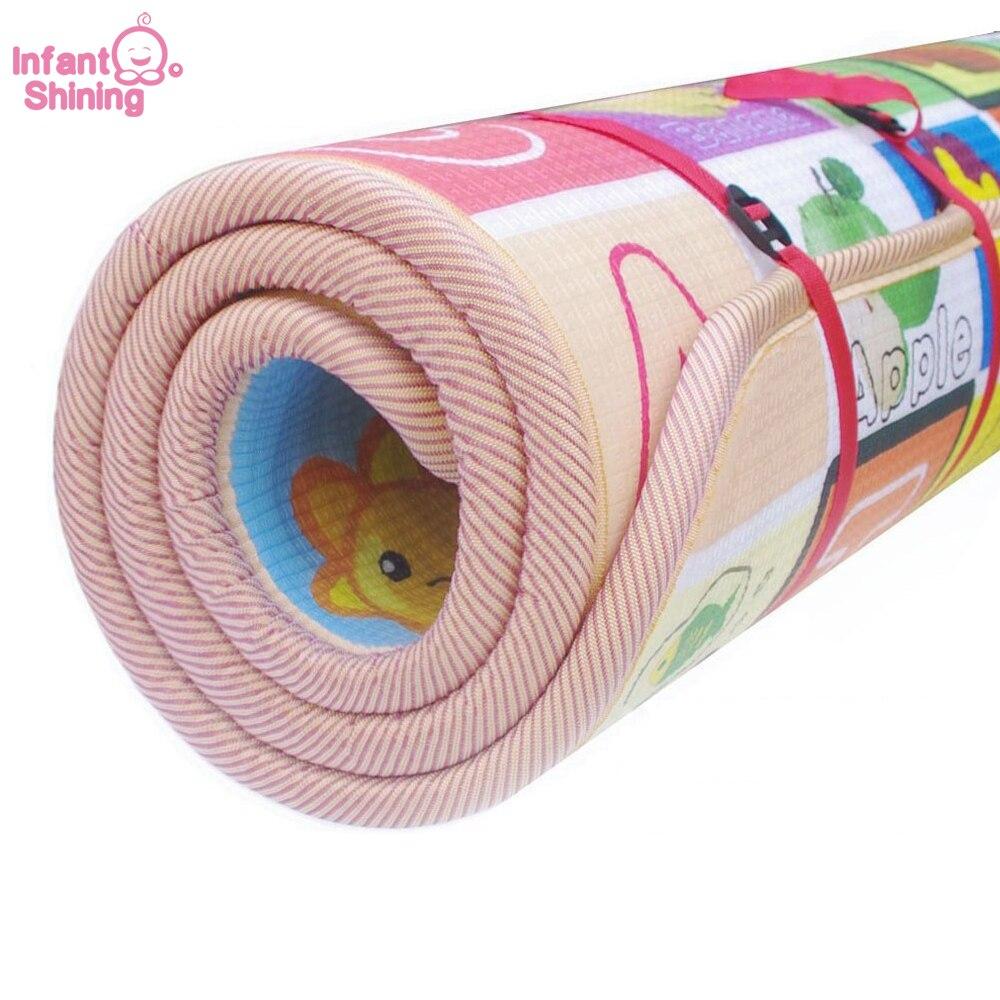 Bébé Tapete Infantil 3cm épaisseur bébé tapis tapis de jeu mousse Puzzle tapis enfant bambin ramper tapis de jeu couverture pour bébé 200*180cm