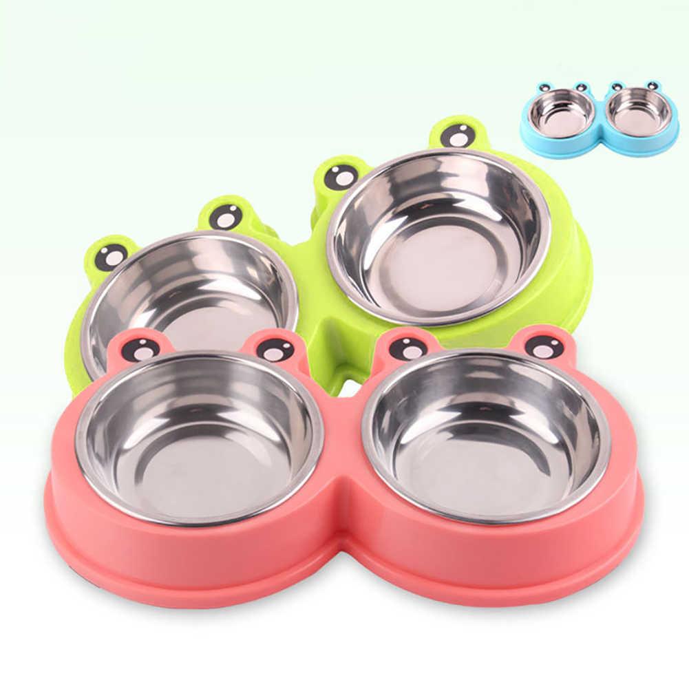 Pies kot miska dla zwierząt domowych picie wody fontanna naczynie do żywności umywalka ładny kształt żaby wody miski na jedzenie pies obroża dla kociaka pieska narzędzia do karmienia