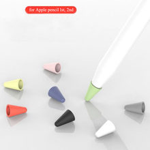 Lot 8pcs Replacement Silicone Tip Case Nib Protective Sleeve Skin Cover for Apple Pencil 1st 2nd Touch Screen Stylus Pen Case(China)