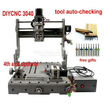 DIY cnc router machine 3040 engraving machine 3 4 axis wood pcb pvc Drilling and Milling Machine mach3 USB port ER11 collet 5 axis diy cnc 3040 with 400w spindle motor usb port mach3 er11 collet type for pcb pvc woodworking cnc milling machine