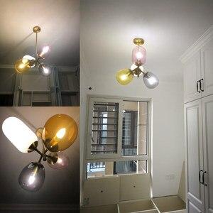 Image 5 - צבעוני זכוכית LED תליון אור יפה אישיות ילדי חדר שינה חדר אוכל אור תליית מנורות תאורה