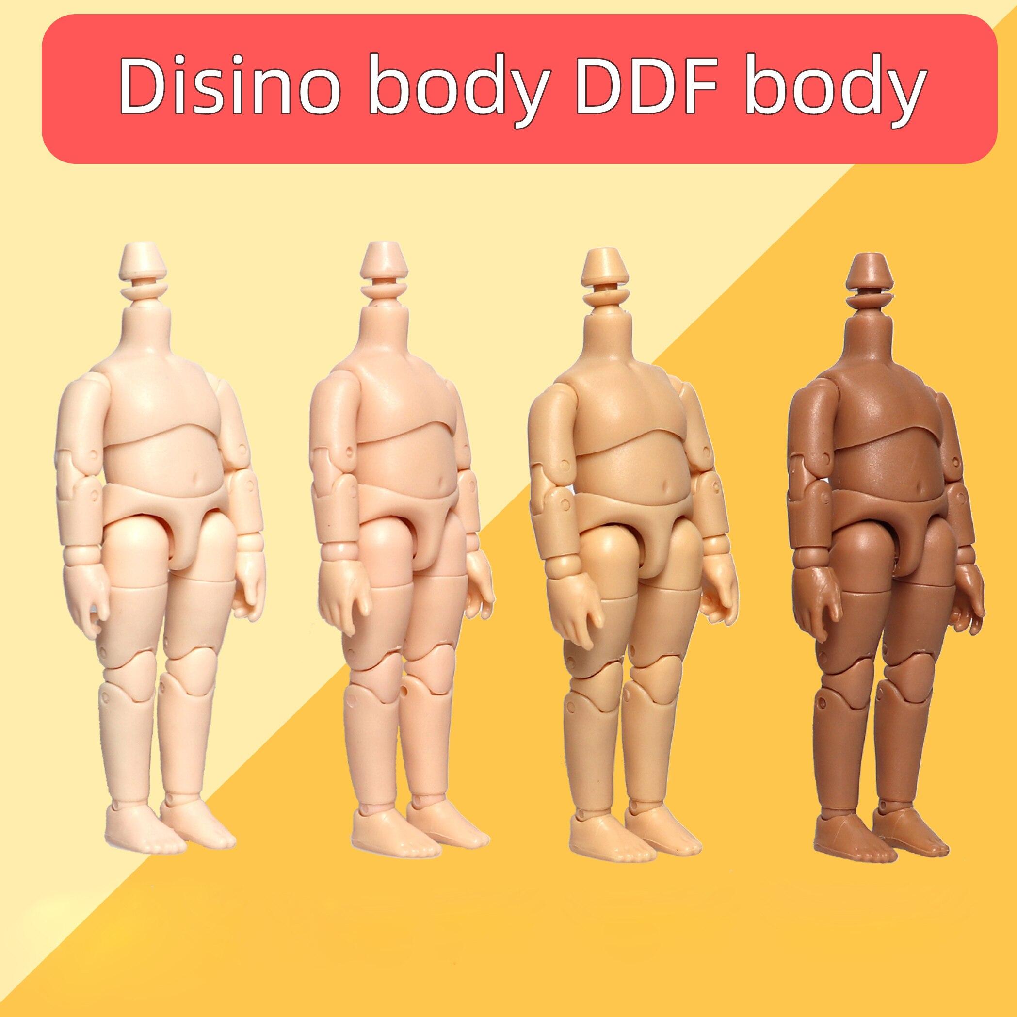 Disono ddf corpo boneca 11cm bjd corpo para gsc argila cabeça, obitsu11, 1 / 12bjd boneca cabeça ob11 conjunta corpo substituição mão conjunto