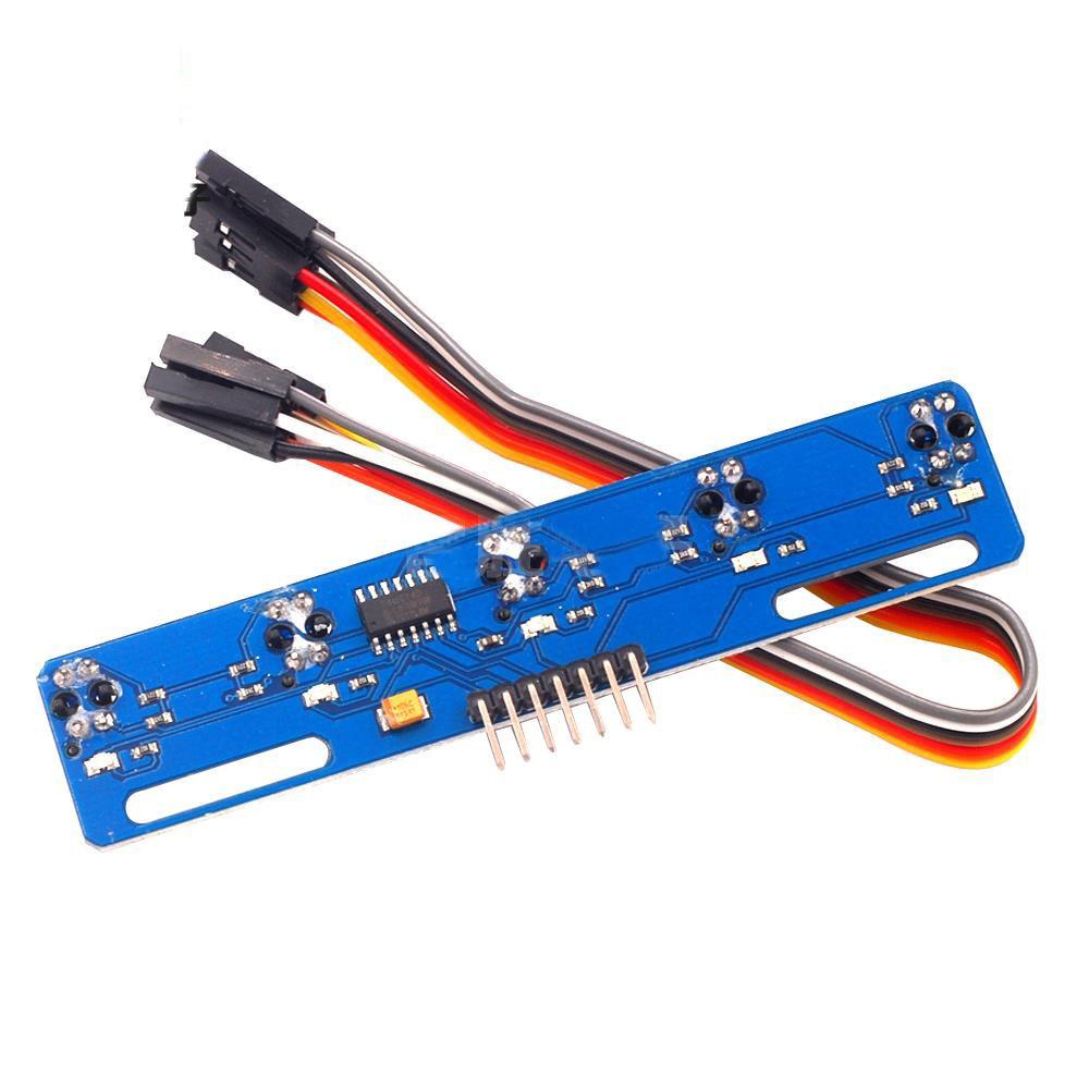 5 canais sensor reflexivo infravermelho tcrt5000 kit 5 vias/estrada ir interruptor fotoelétrico barreira linha pista módulo