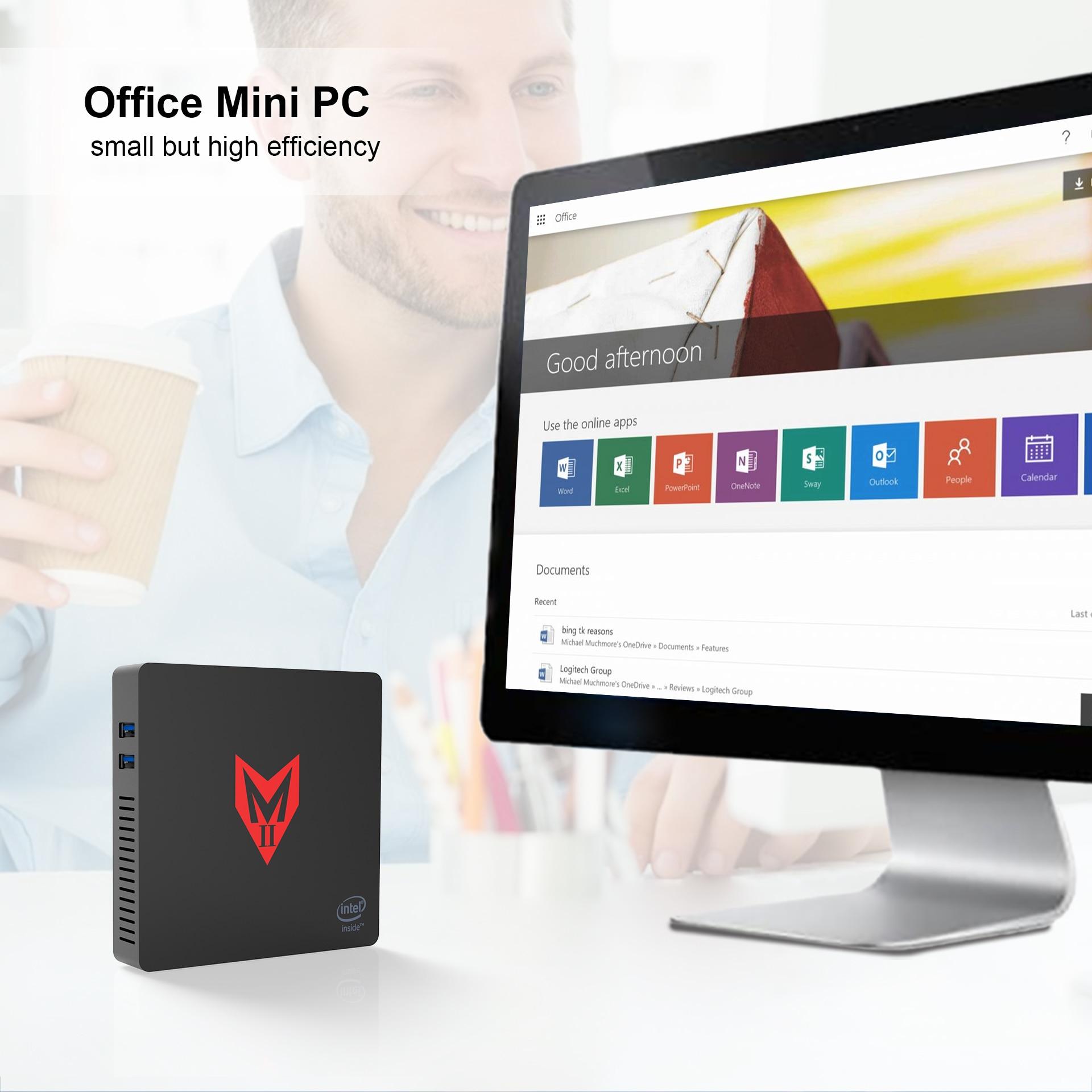 2020 MINI PC WIN10 Model MII-V Top Selling MII VER 1 Processor J3355 HD Graphics 500 4GB+64G BT 4.0 MINI PC