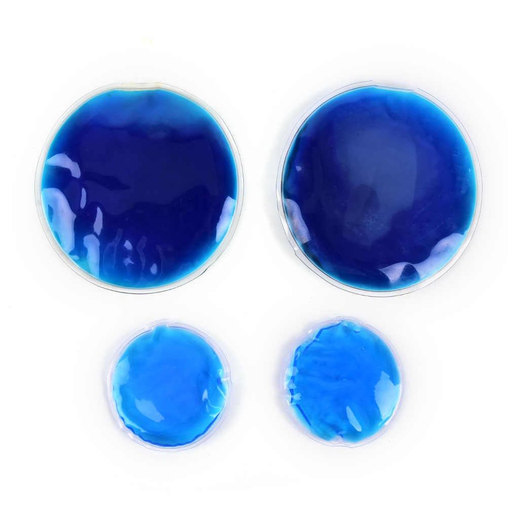 7cm 1Pc forme ronde réutilisable glace froide chaude Gel Pack thérapie micro-ondable chaleur soulagement de la douleur pour les sacs de thérapie froide et chaude