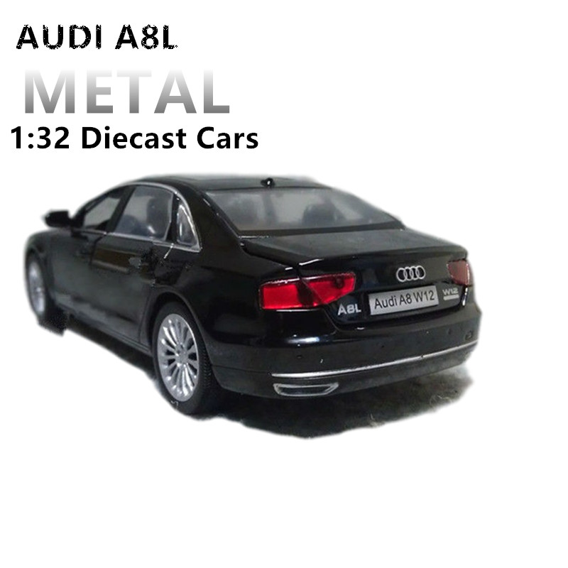 1:32 Diecast Scale Toy Car Audi  Models 4 Openable Doors Metal Model Sound And Light Pull Back SUV Toys For Kids