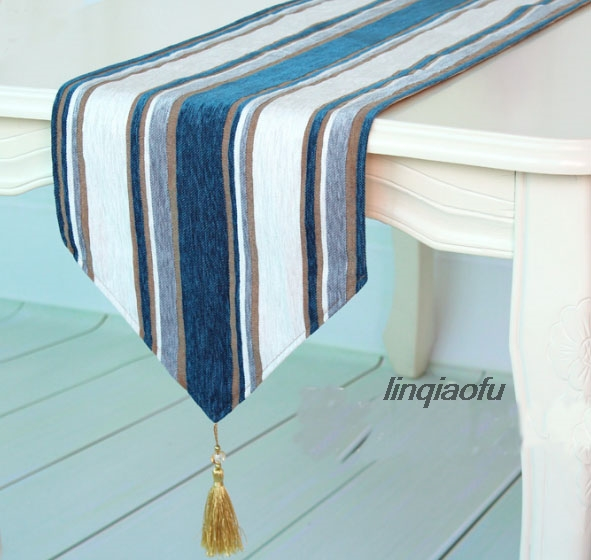 Runner Table-Flag American-Style Blue Luxury Mediterranean