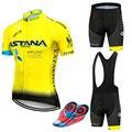 New 2019 blue astana 사이클링 팀 저지 9d 자전거 반바지 세트 quick dry mens 자전거 의류 팀 pro bike maillot culotte