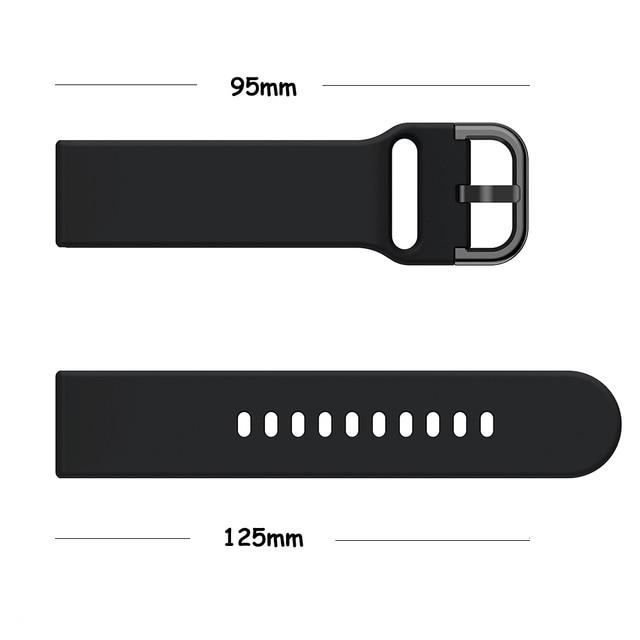 Фото ремешок силиконовый для samsung galaxy watch 3 41 мм 45 спортивный