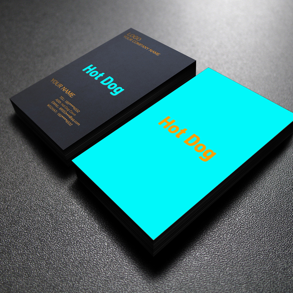300PCS Free Shipping Free Design Custom 300gms Logo Printing Of Business Card, Double-sided And Full-color Printing