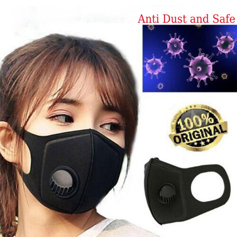 Kn95 Reusable Face Mask With Breath Valve PM2.5 Mouth Mask Anti-Dust Anti Pollution Mask Activated Carbon Filter Respirator FFP3