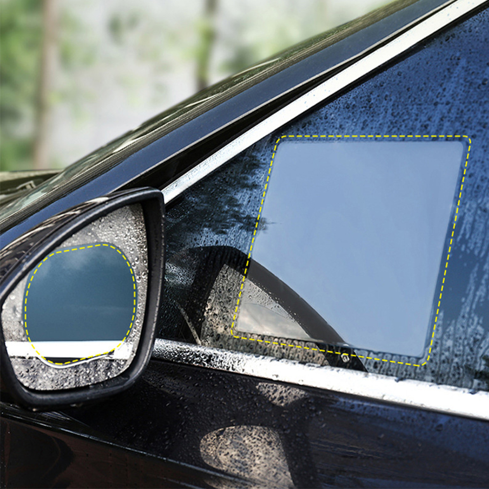 Image 5 - 2pcs/set 175*200MM Car Window Anti Water Mist Anti Fog Rainproof Window Protective Film Universal Waterproof Car Sticker Film-in Side Mirror Folding Kit from Automobiles & Motorcycles