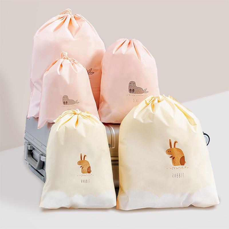 Cute Cartoon Animal Cosmetic Bag Women Travel Make Up Drawstring Case Organizer Storage Makeup Toiletry Beauty Wash  Pouch