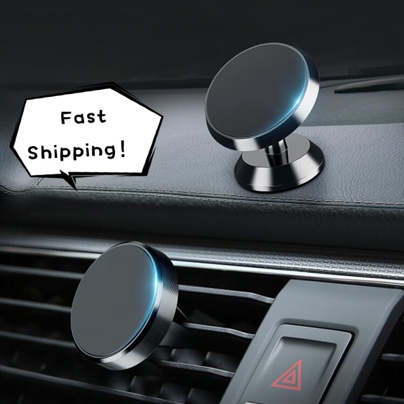 Magnetic Car Holder For Iphone Samsung Mobile Phone Holder Stand Car Air Vent Magnet Dashboard Mount Support In Car Phone Holder