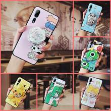drift sand Anti-dust Phone Case For ZTE Axon 10 Pro Back Cover Anti-knock Cartoon TPU Soft Case(China)
