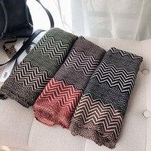 2020 New Zigzag Print Scarves Shawls Long Cotton Soft Trendy Scarf