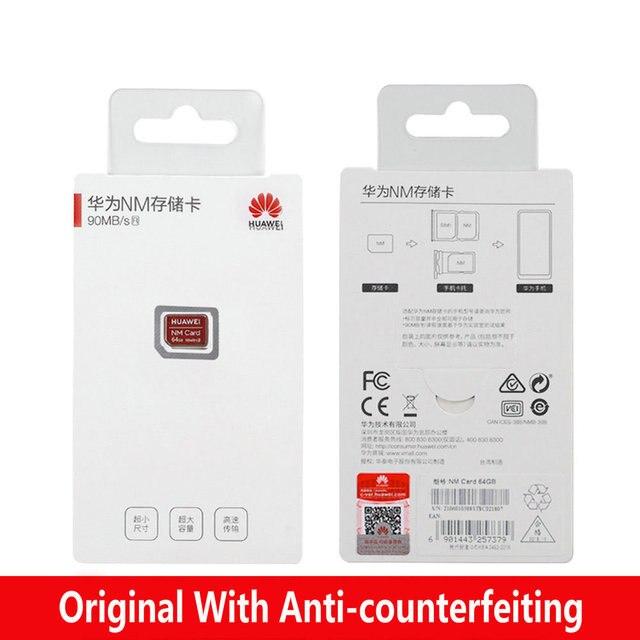 90MB/s Speed 100% Original For Huawei Mate 20/20 Pro/20X/20RS/P30/P30 Pro NM Card 64GB/128GB/256GB Nano Memory Card 5