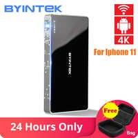 BYINTEK UFO P10 Portable Home cinéma intelligent Android 7.1.2 OS Wifi Mini HD LED dlp projecteur pour 1080P MAX 4K pour Iphone 11