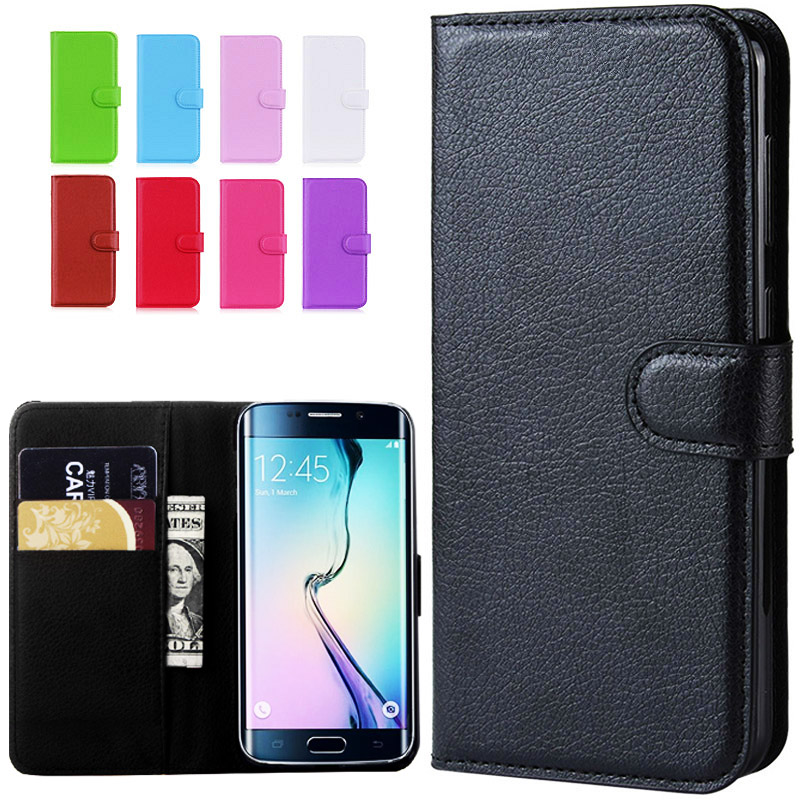 Flip Wallet Leather Phone <font><b>Case</b></font> For <font><b>Samsung</b></font> Galaxy S6 Edge GS6 S 6 S6edge GalaxyS6 <font><b>SM</b></font> G925F G920i <font><b>G920F</b></font> <font><b>SM</b></font>-G925F <font><b>SM</b></font>-<font><b>G920F</b></font> Cover image