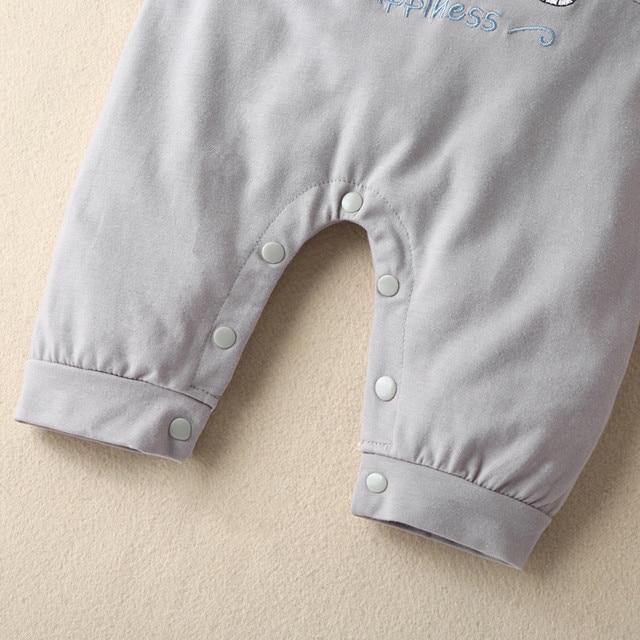 Baby Boys Girls Long Sleeve Cartoon Star Print Romper Infant Kawaii Elephant Pattern Jumpsuit Newborn Toddler Keep Warm Clothes 6